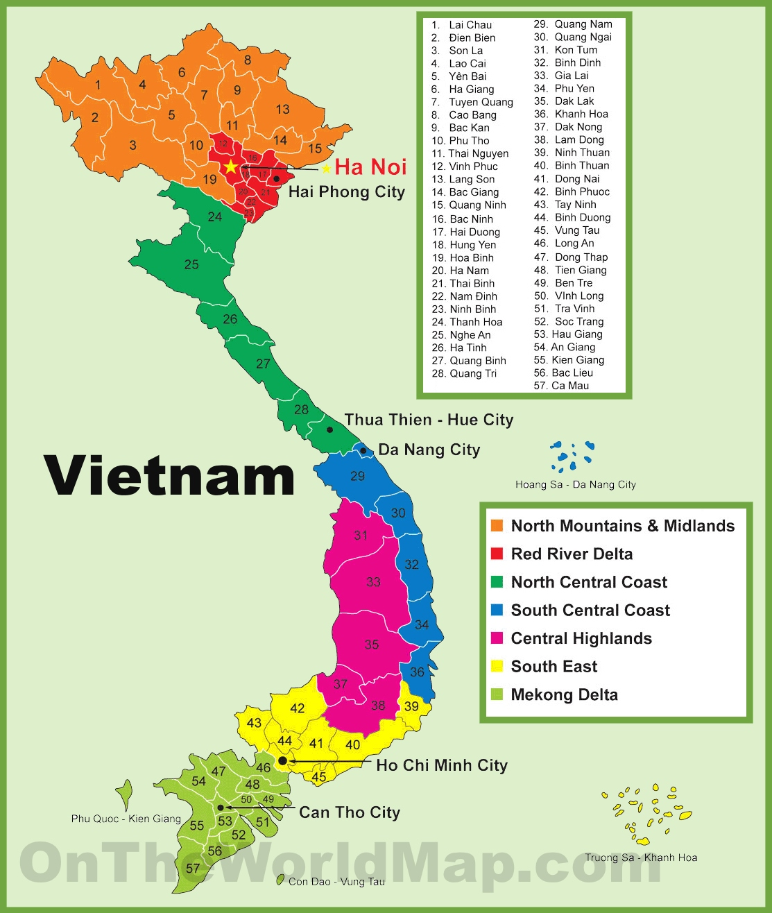 Vietnam Province Map