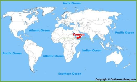 Αποτέλεσμα εικόνας για yemen on a map