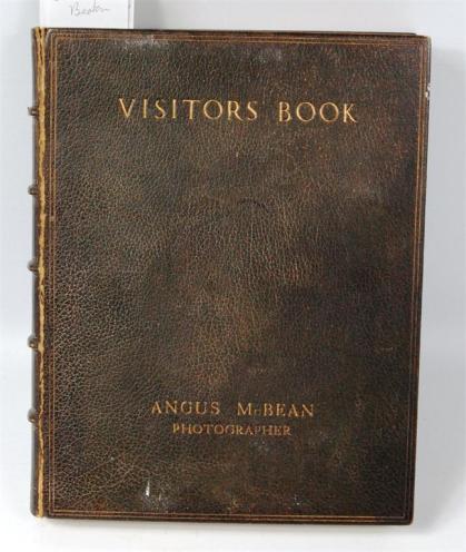 Studio Visitors' Book