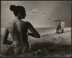 Angus McBean's Christmas card of 1949, with female model.