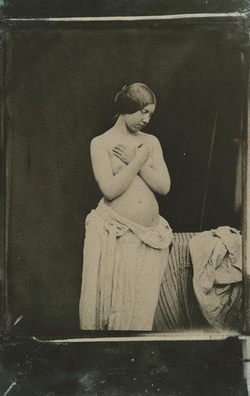 Julien Vallou de Villeneuve (1795-1866) Nu féminin, c. 1852. Image digitally inverted to positive.