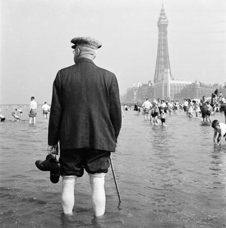 John Gay (1957 - 1962) Man paddling at Blackpool