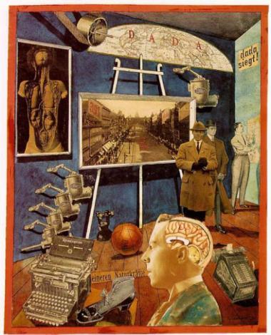 Raoul Hausmann (1920) Ein bürgerliches Präcisionsgehirn ruft eine Weltbewegung hervor (A Bourgeois Precision Brain Incites World Movement)