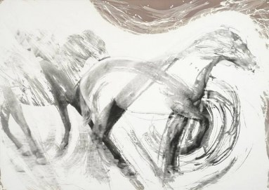 Gerald Incandela (2007) Homage to Muybridge, Hand brushed silver gelatin print on photographic paper, 149.9 x 106.7 cm