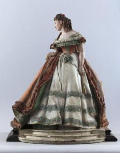 Auguste François Willème (1845-?) Portrait de Céleste-Rose Beauregard, dite Rose Deschamps, comédienne. Polychrome plaster.