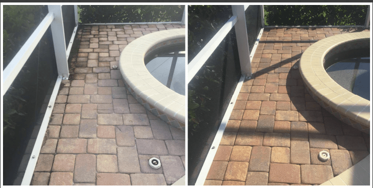 Pool Paver Cleaning, Apollo Beach FL