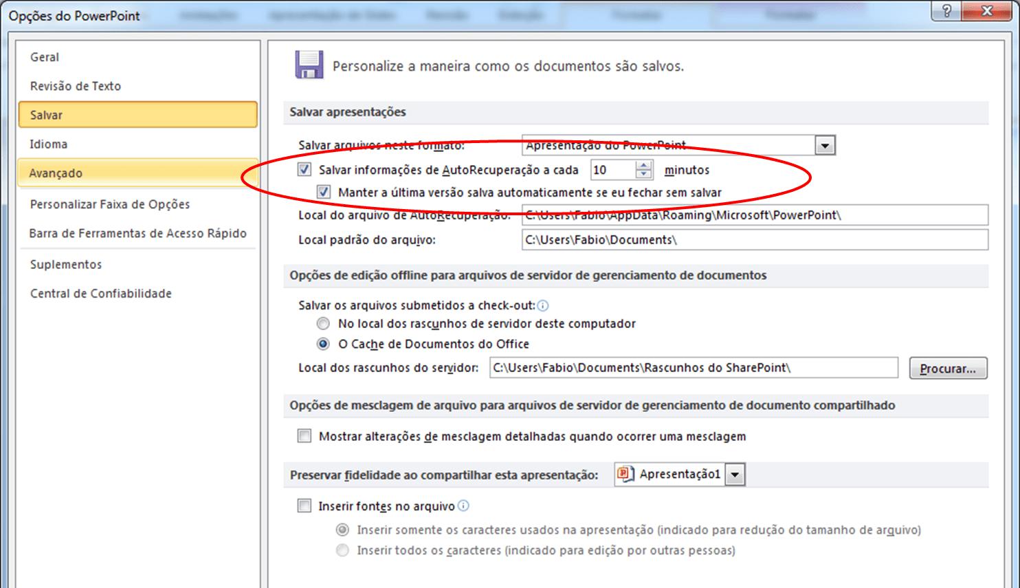 Microsoft Office Recuperando Documentos Nao Salvos