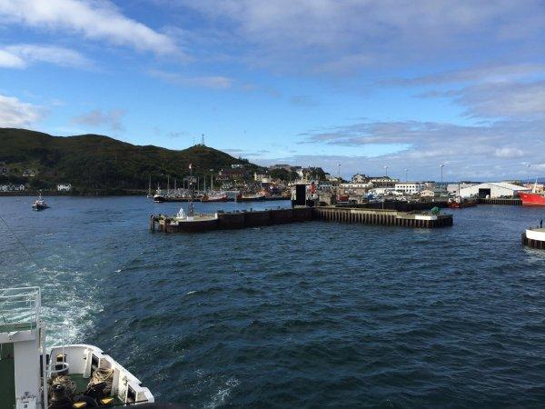 Abfahrt aus Mallaig in Richtung Armadale auf Skye
