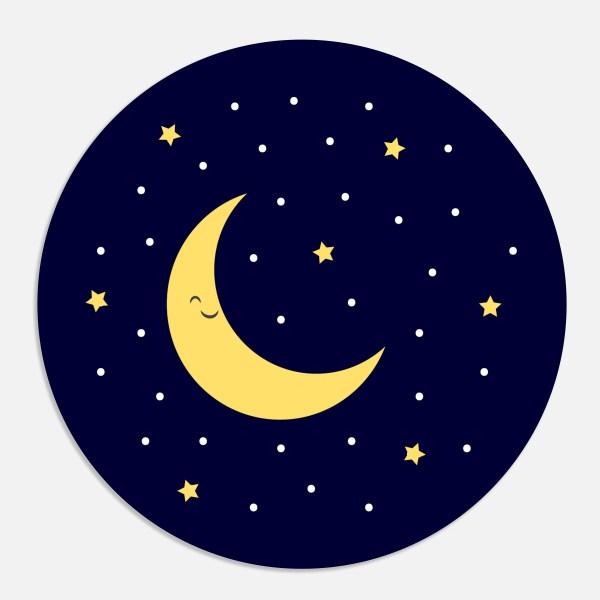 Een sticker voor een geboortekaartje maakt het totaalplaatje compleet. Deze sluitzegel past bij het geboortekaartje maan.