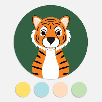 Een sticker voor een geboortekaartje maakt het totaalplaatje compleet. Deze sluitzegel past bij het geboortekaartje jungle dieren.