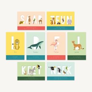 Deze gepersonaliseerde poster kun je met een gerust hart cadeau doen aan baby of kind.