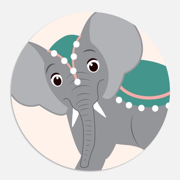 Een sticker voor een geboortekaartje maakt het totaalplaatje compleet. Deze sluitzegel past bij het geboortekaartje circus.