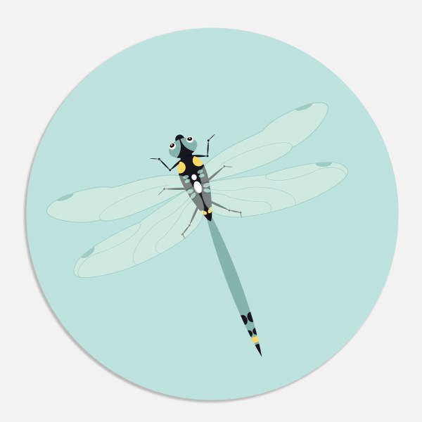 Sluitsticker libelle ontwerp door lindy geboortekaartje
