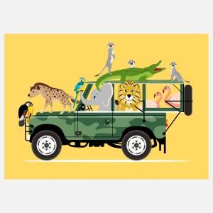 jeep safari geel a3 a4 ontwerp door lindy