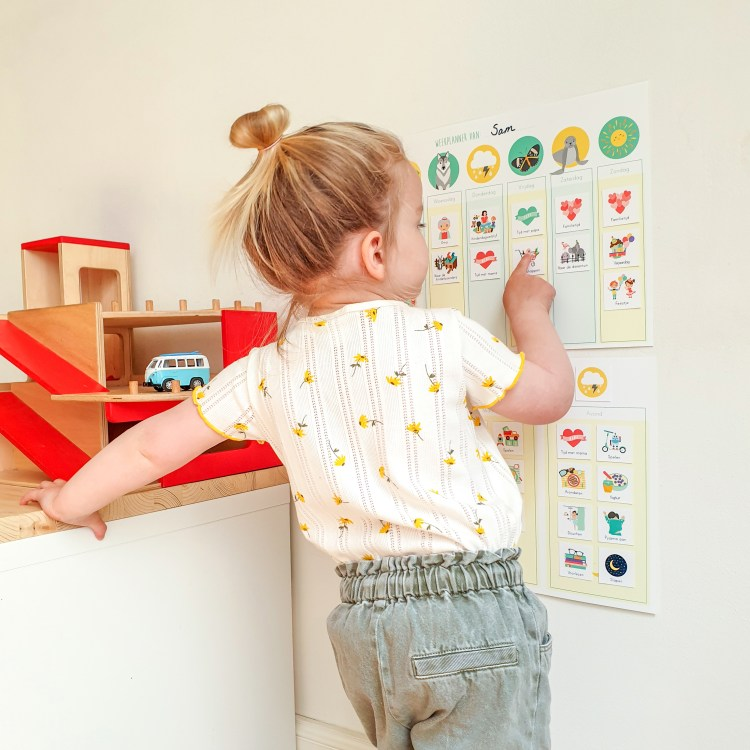 weekplanner en dagplanner routine leren kind ontwerp door lindy