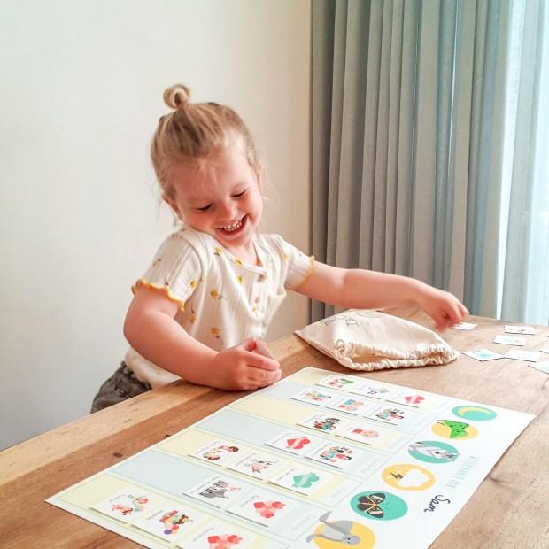 weekplanner routine activiteitenkaartjes ontwerp door lindy