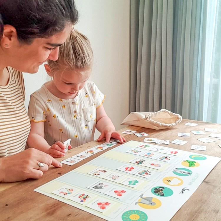 weekplanner routine dag planning kind ontwerp door lindy
