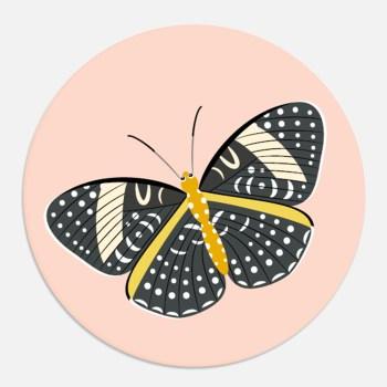 sticker vlinder roze cadeau kind ontwerp door lindy