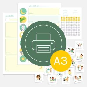 weekplanner dagplanner totaal kind ontwerp door lindy download print a3 2021