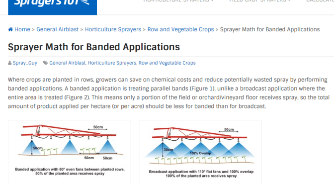 Sprayer Math for Banded Applications