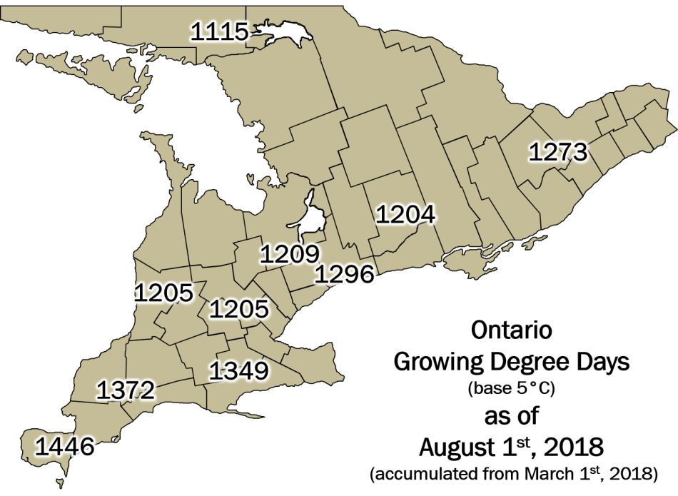 OntarioGDDMap August1