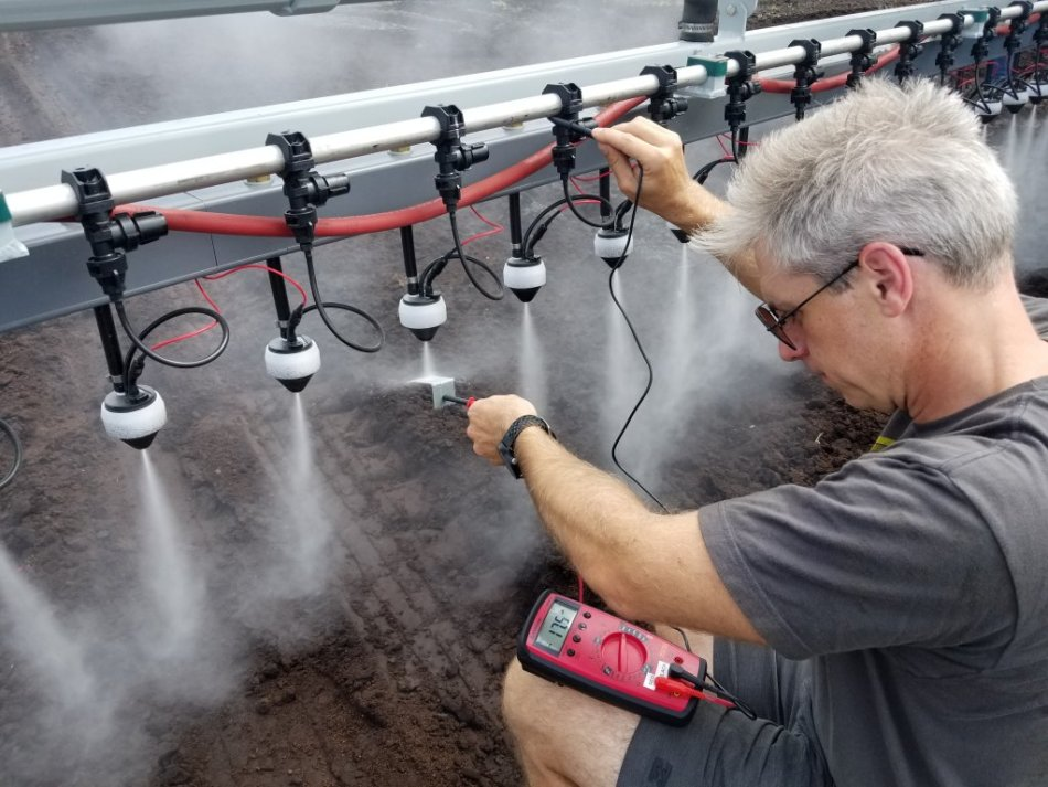 Testing spray charge