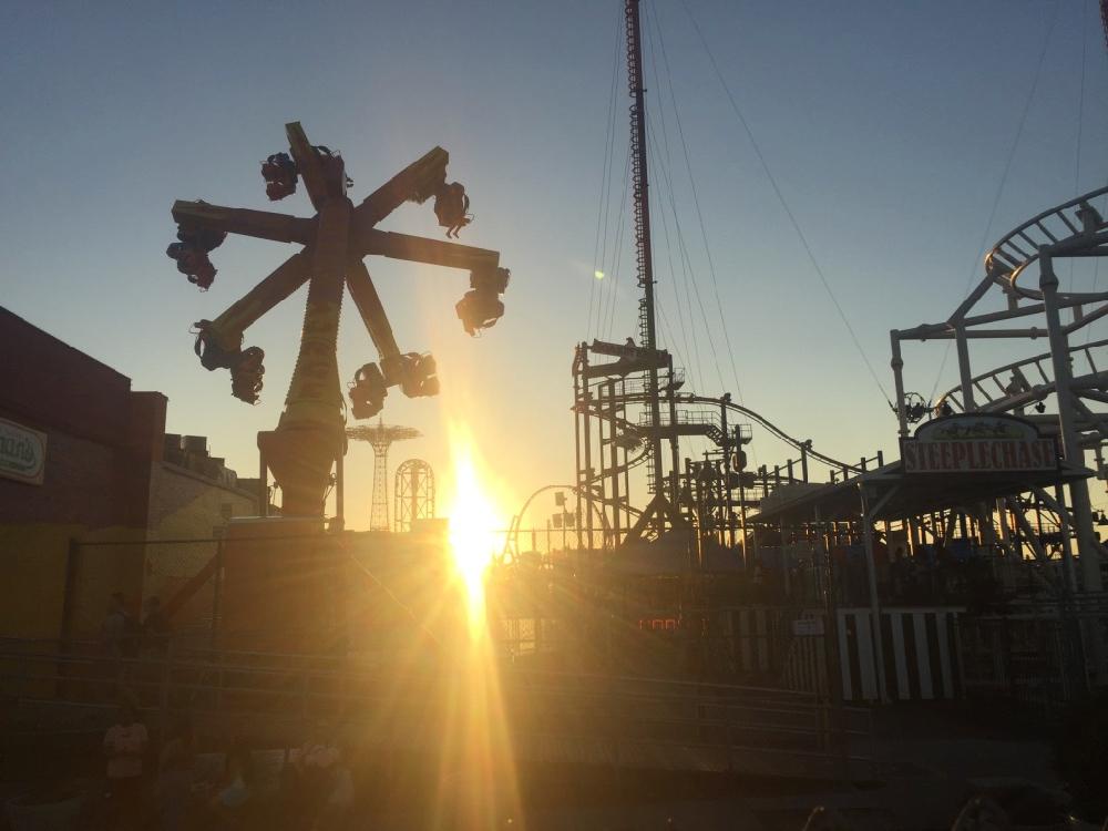 Sunset at Coney Island