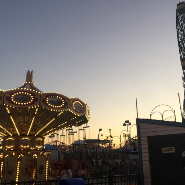 Coney Island sunset over the Carousel