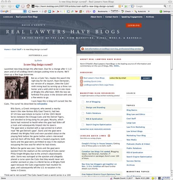 LexBlog - Real Lawyers Have Blogs