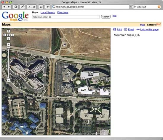 Google Map View of Google