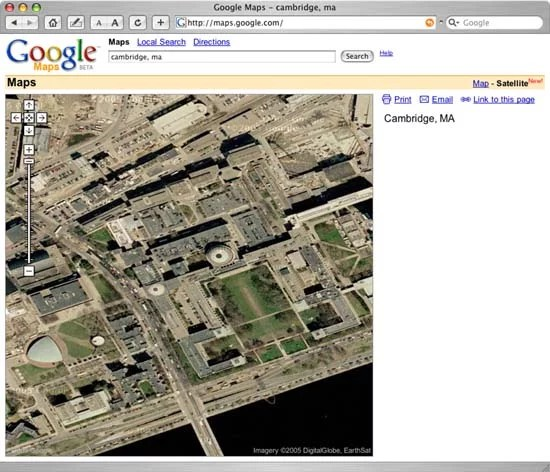 Google Map View of MIT