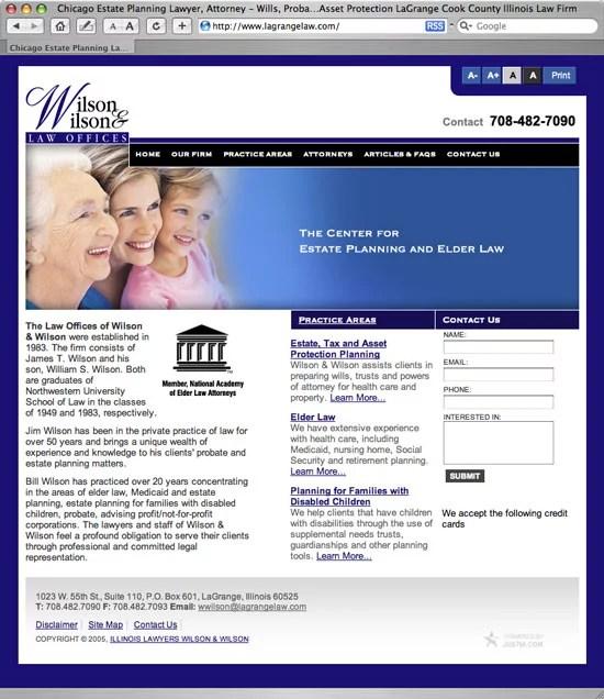 Justia built Wilson & Wilson Web site
