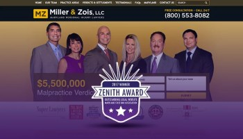 Justia Client Miller & Zois Wins Inaugural Maryland State Bar Website Award