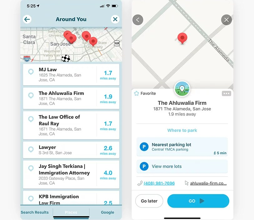 GMB Data in the Waze Mobile Application