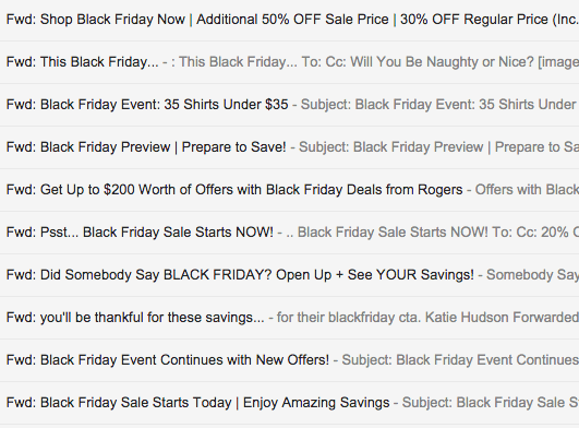 Black Friday direct email marketing