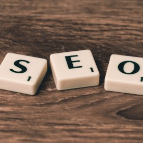 SEO spelt with Scrabble letters