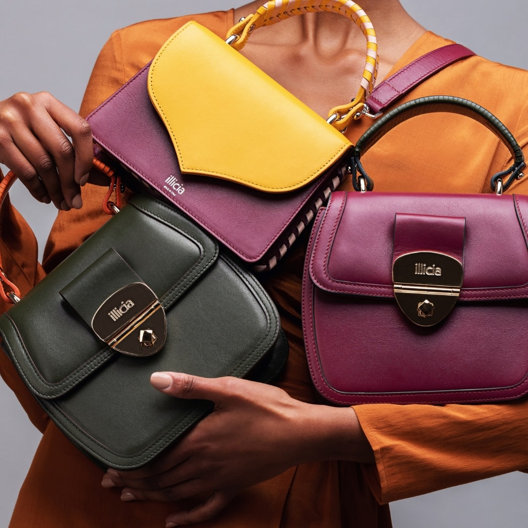Illicia Luxury Leather Handbags | Onwards and Up