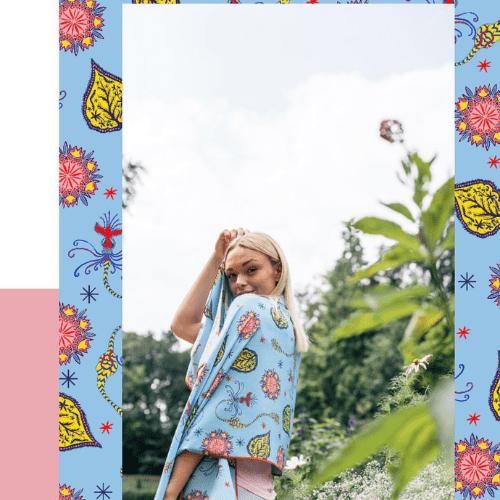 Bella Singleton Silk Scarves | Onwards and Up