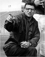 A young Joe Paterno on the sidelines