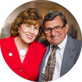 Sue Paterno and her husband Joe Paterno