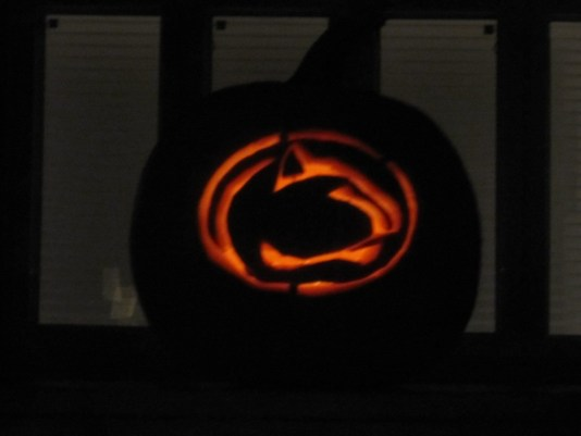 "Photo by Mallory Liebhaber. ""Nittany Lion Jack-O-Lantern."""