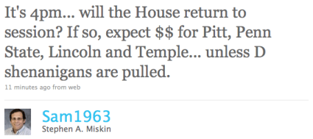 """Stephen MIskin is the spokesman for Pennsylvania's House Republican Caucus, and apparently he doesn't like """"D shenanigans"""" any more than the next guy."""