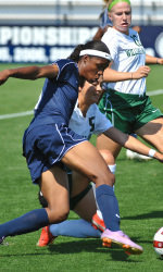 Freshman Maya Hayes scored her first two career goals this weekend.