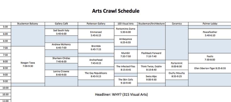ArtsCrawlSchedule