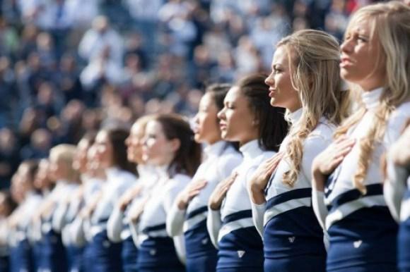 37 - Purdue - Cheerleaders, National Anthem