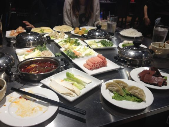 hot pot four person table