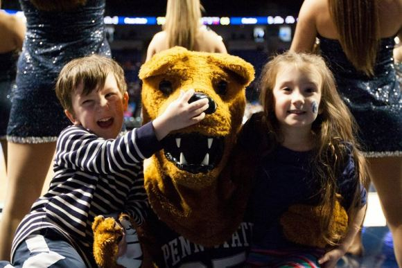 He's got your nose, Nittany Lion! (Photo by: Bobby Chen)