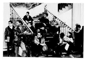 Douglass Association sit-in in the lobby of Old Main. (Credit: libraries.psu.edu)