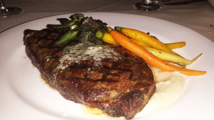 Dry-aged rib eye steak. (Photo: Zach Berger)