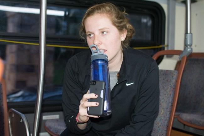 Lexi on the bus_